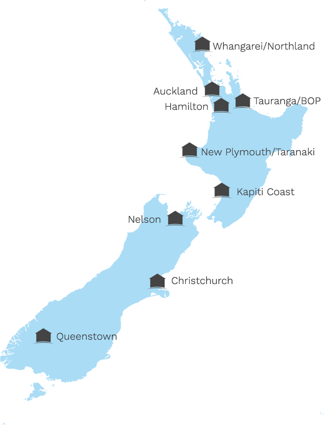 Our Locations in New Zealand